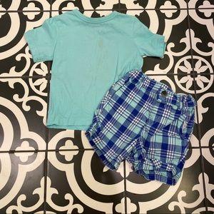 TCP Aqua T-shirt and Plaid Short